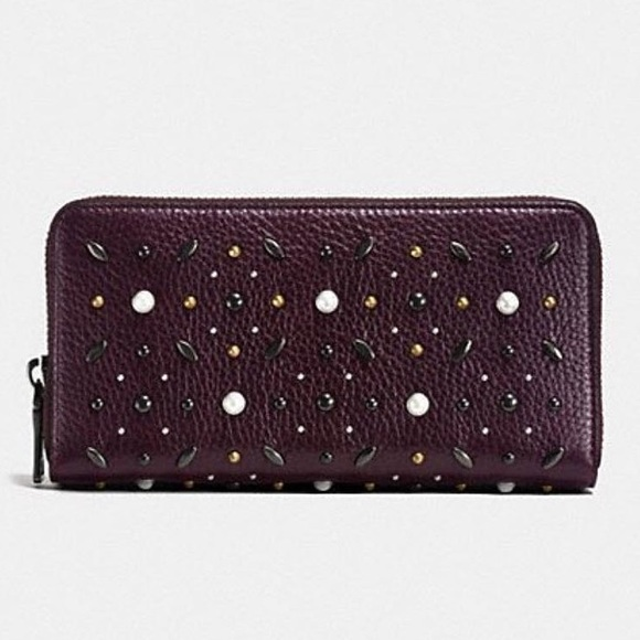 Coach Handbags - COACH Accordion Prairie Rivets zip around wallet